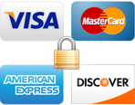 We accept all major credit cards - icon